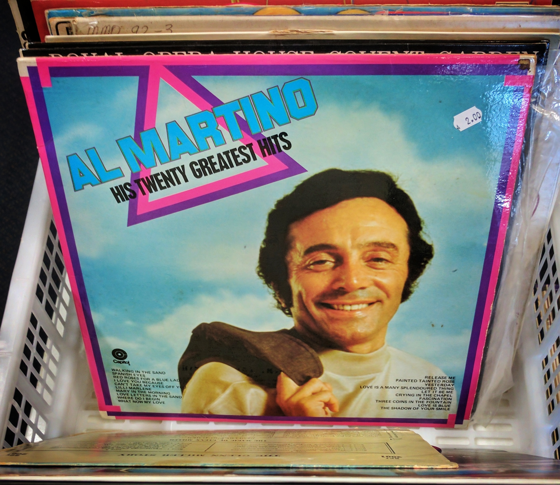 Al Martino, 'His Twenty Greatest Hits' vinyl album