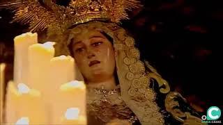 María Santísima de los Dolores Servitas por la Plaza del Palillero en la Semana Santa Cádiz 2019