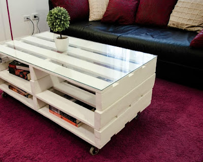 beautiful pallet bed with headboard nightstand