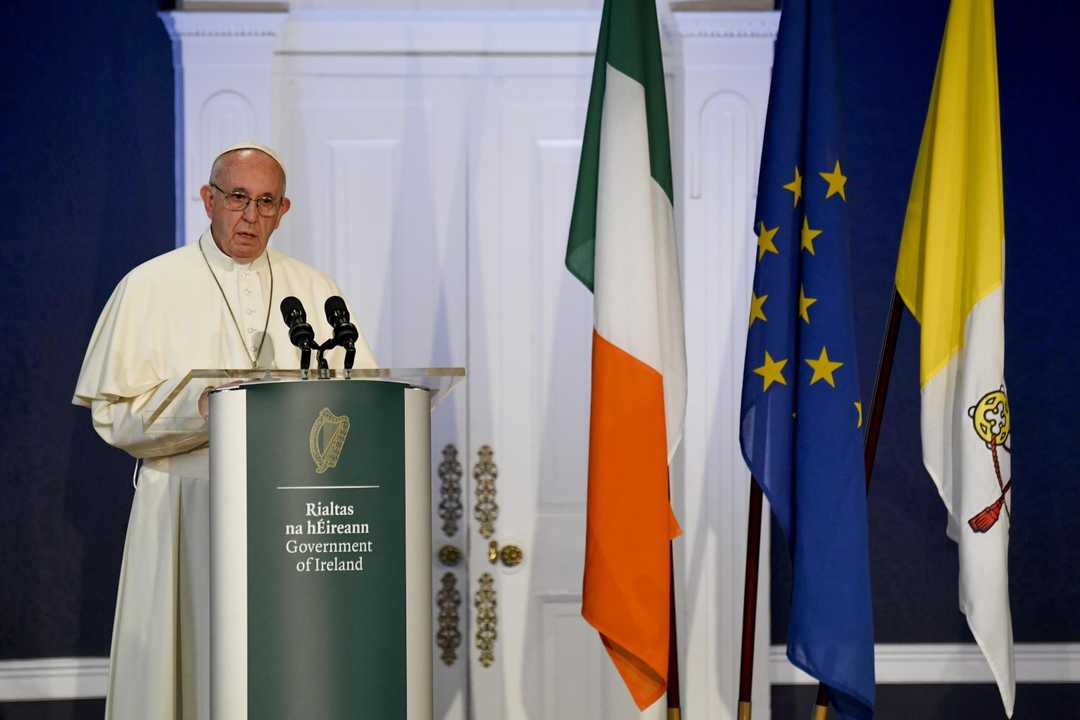 The Italian Pope Meets With Catholic Church Sex Abuse Survivors In Ireland