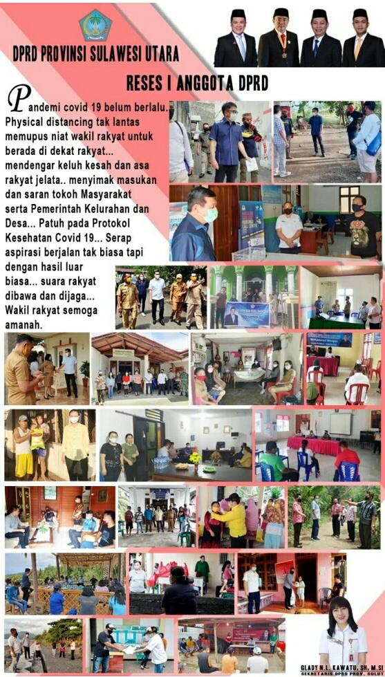 45 Anggota DPRD Sulut, Gelar Reses 1 Tahun 2020