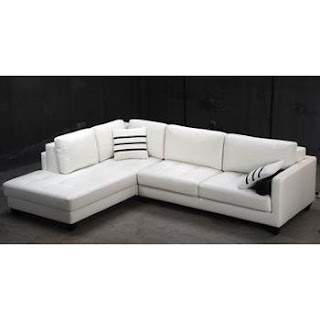 Tosh Furniture Padua White Leather Sectional Sofa