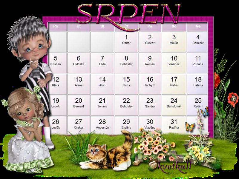 kalendář srpen 2019
