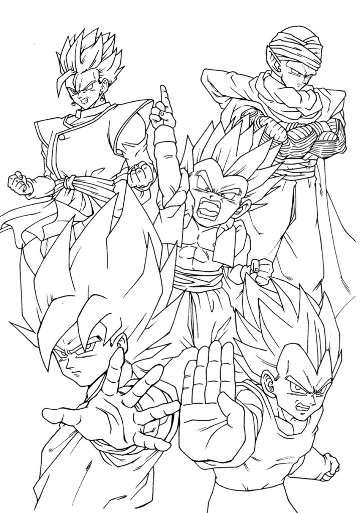 Dragon Ball Printable Coloring Pages