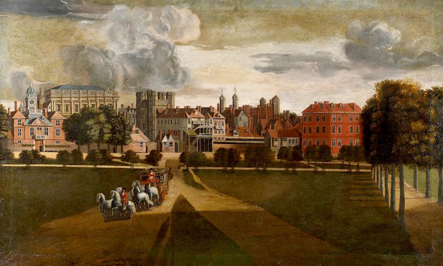 The Old Palace of Whitehall by Hendrick Danckerts, c. 1675