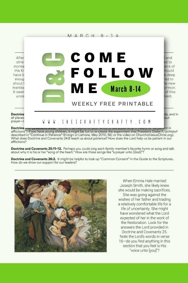 Pinterest Pin - Come Follow Me - March 8-14 - D&C 23-26