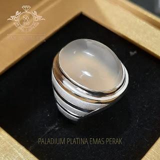 cincin perak batu mulia akik laki laki emban