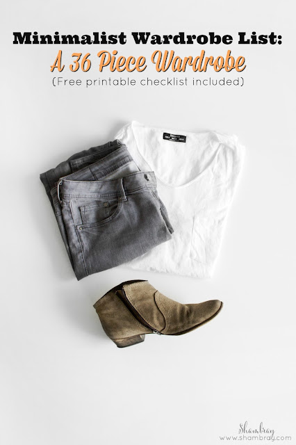 Minimalist Wardrobe List: A 36 Piece Wardrobe_Free Printable checklist