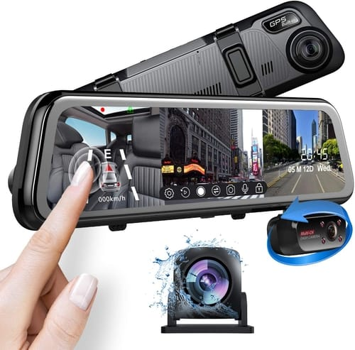 Review Pruveeo J20 Three and Dual Channel Dash Cam Cars