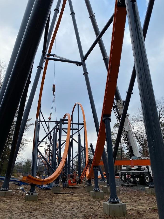 Six Flags Great Adventure retoma obras da Jersey Devil Coaster - Atualização 5
