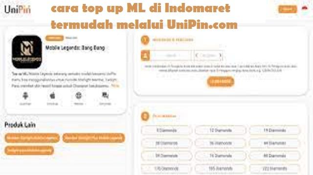 Cara Top Up ML di Indomaret
