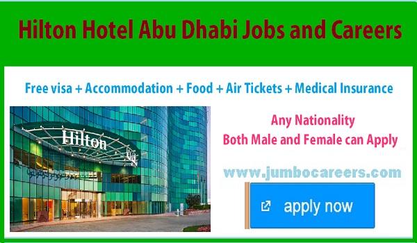 Hotel jobs in Abu Dhabi with accommodation, Abu Dhabi hotel jobs salary details,