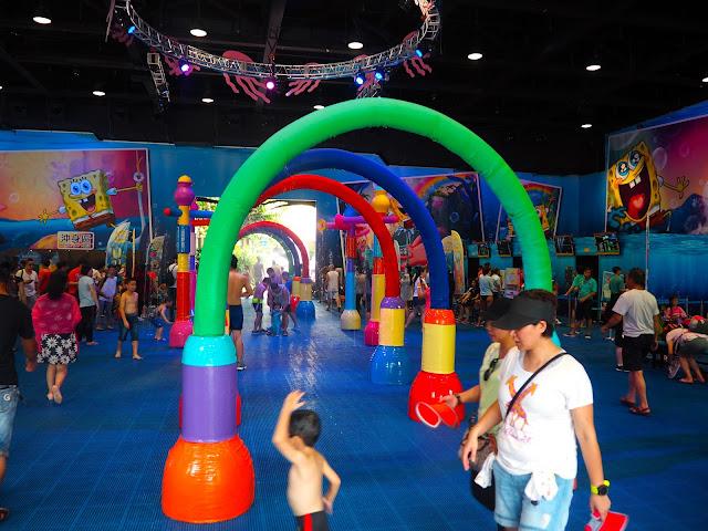 Spongebob Squarepants water playground at Ocean Park for summer 2016