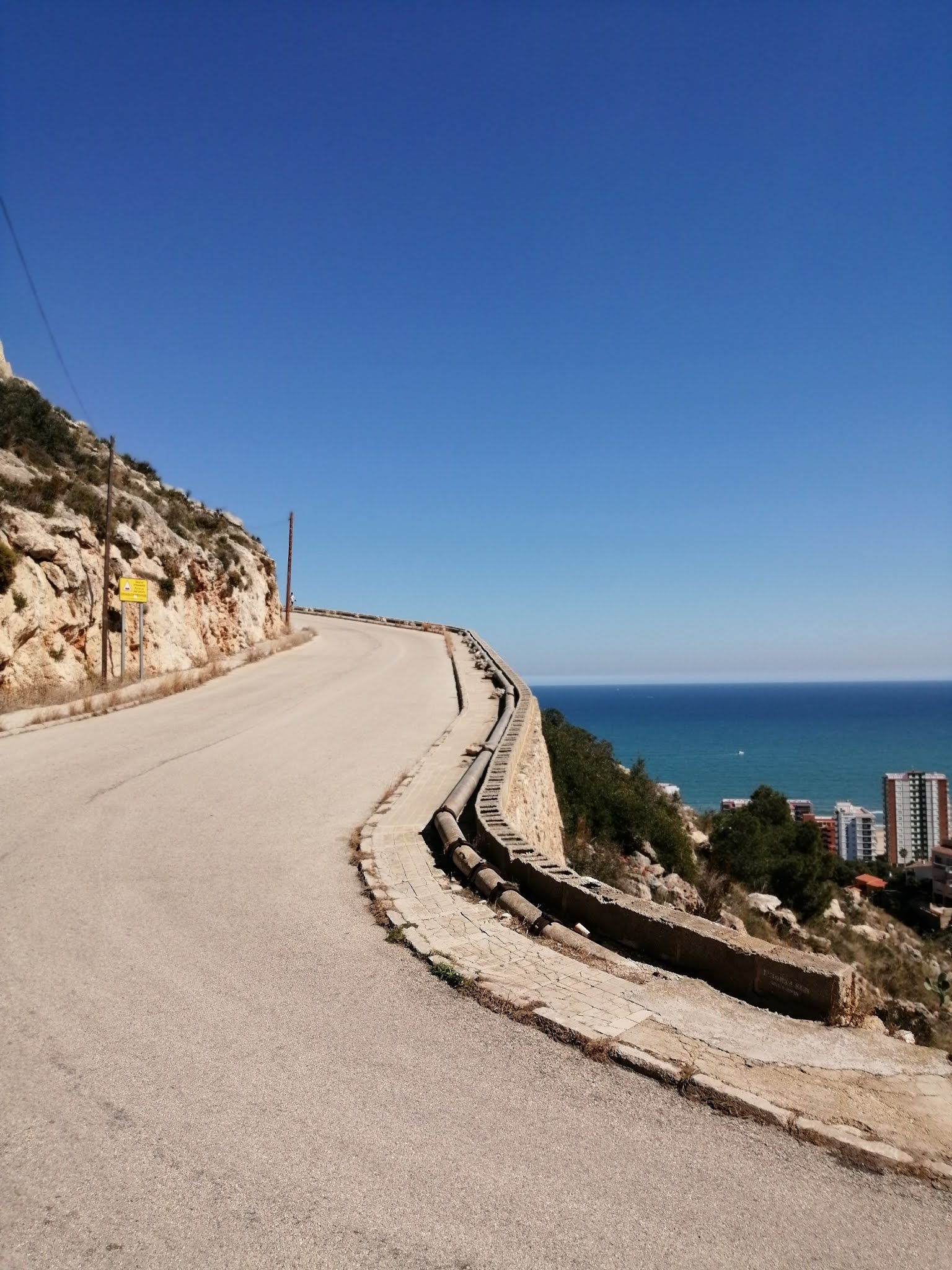 Mediterranean Sea seen from the climb to La Bola in Cullera, Spain