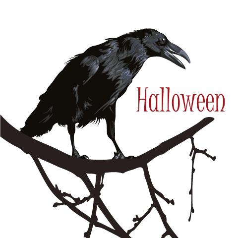 Cuervo de Halloween