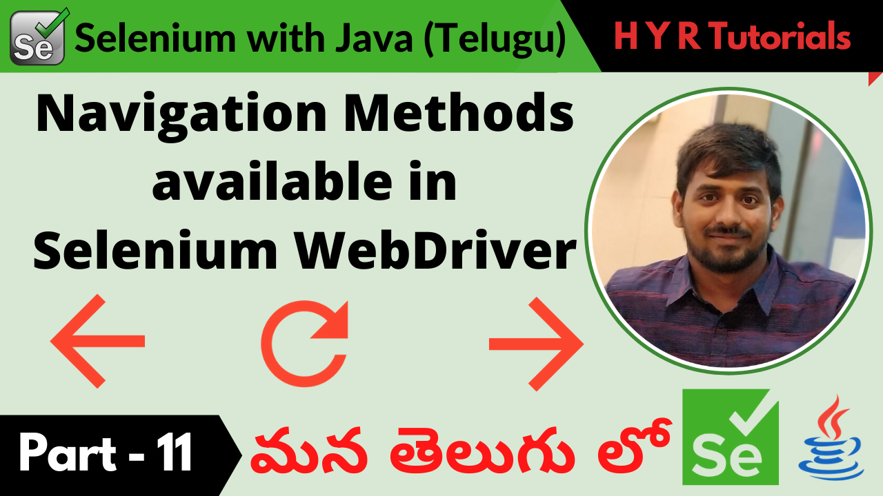Navigation Methods in Selenium WebDriver