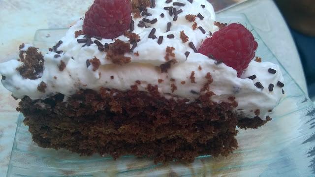Gâteau chocolat - spéculos, chantilly