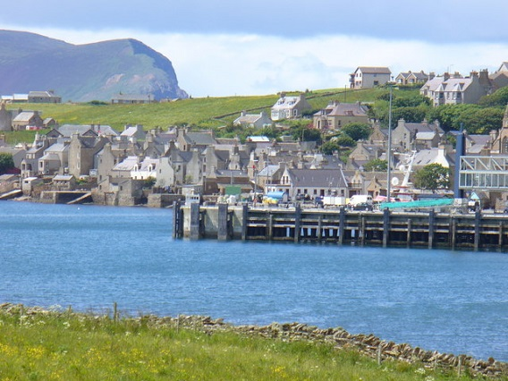 Seaside village of Hamnavoe, Orkney