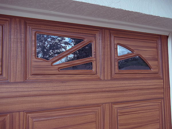 Paint front door to look like wood and to match garage for How to paint a garage door to look like wood