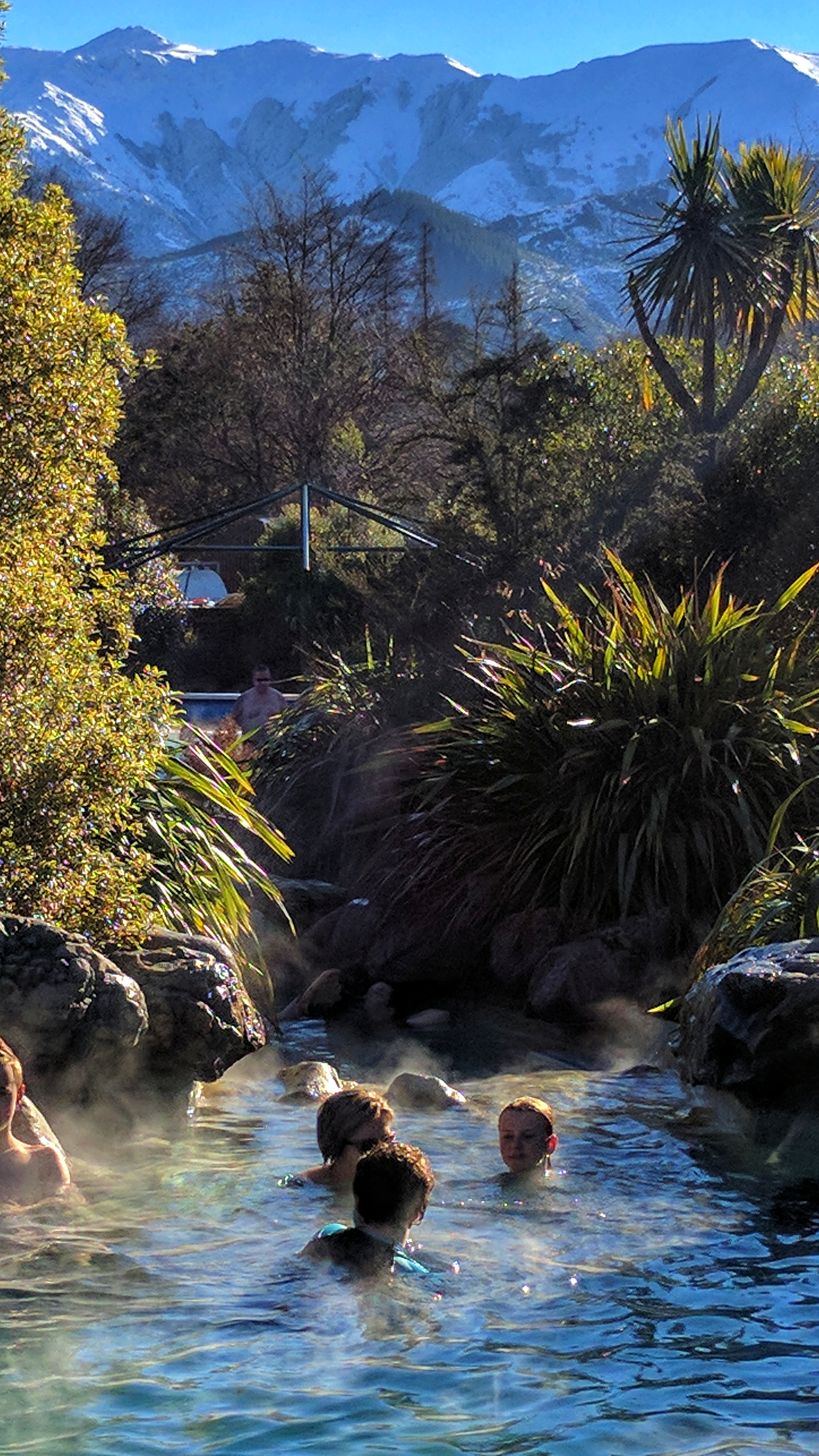 Hamner Springs and a thermal pool with a view