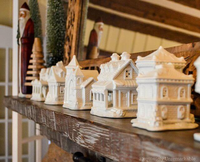 DIY Bisque Christmas Village
