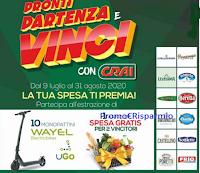 """Logo Concorso """"Pronti Partenza e Vinci con Crai"""" : in palio 10 Monopattini e spese da 2.500€"""