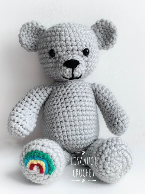 free crochet teddy bear toy pattern