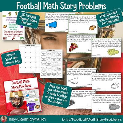 https://www.teacherspayteachers.com/Product/Football-Math-Story-Problems-4322160?utm_source=blog%20post%20Super%20Bowl&utm_campaign=Football%20math%20stories