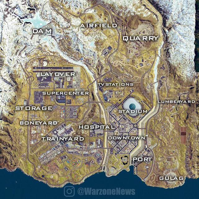 Call of Duty: Warzone real maps