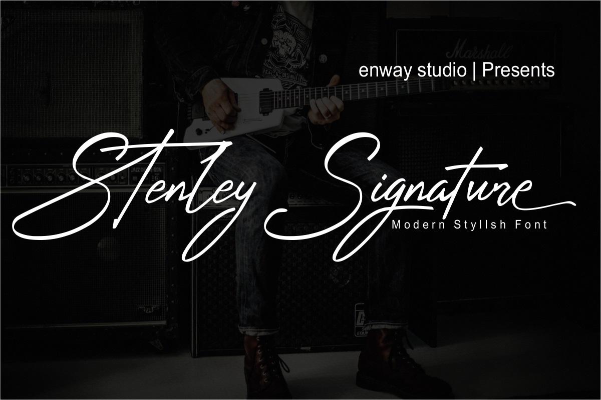Stenley Signature Font - Free Elegant script typeface