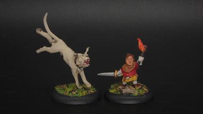 Troll Hound and Halfling Militia