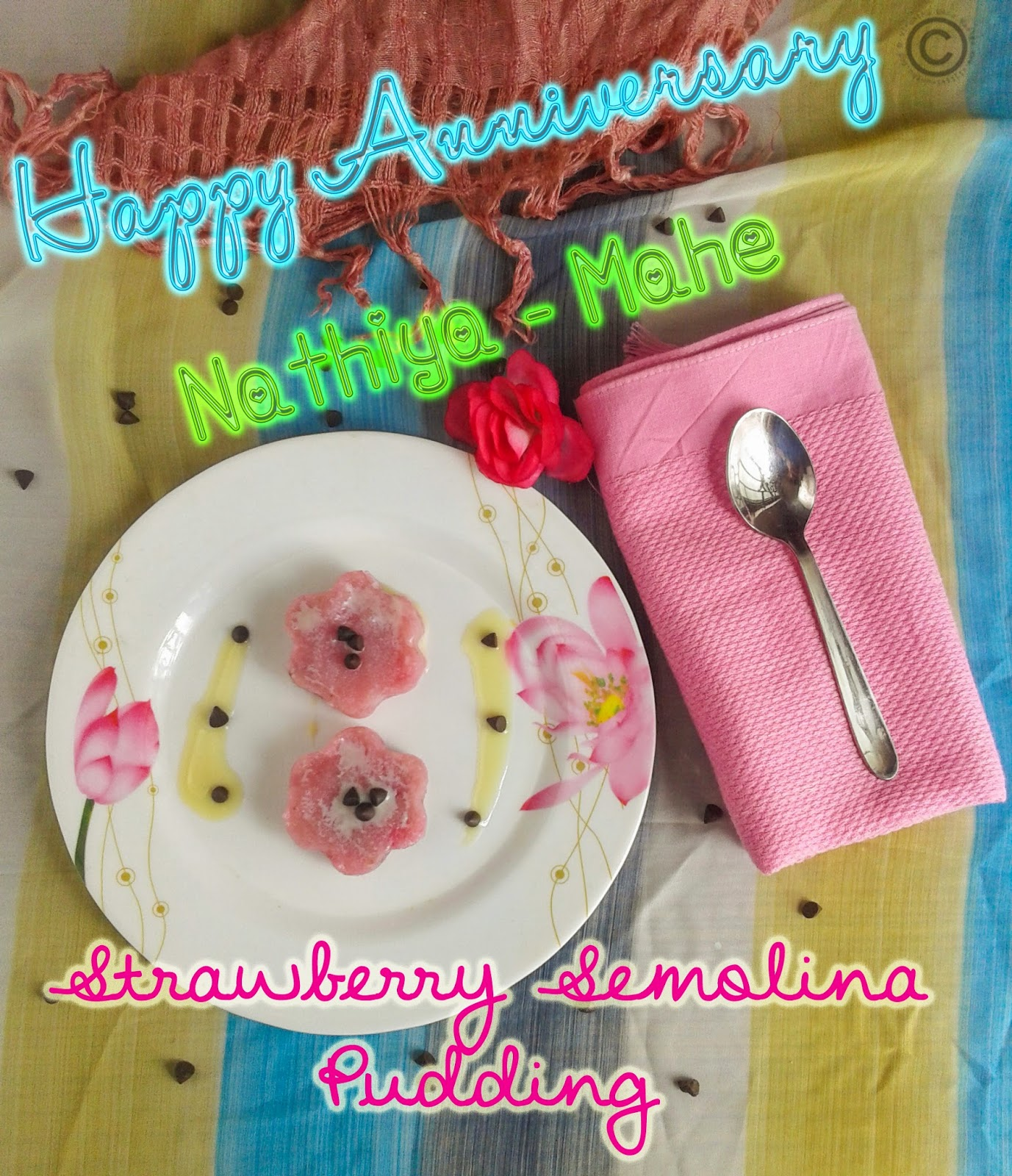 strawberry-semolina-pudding