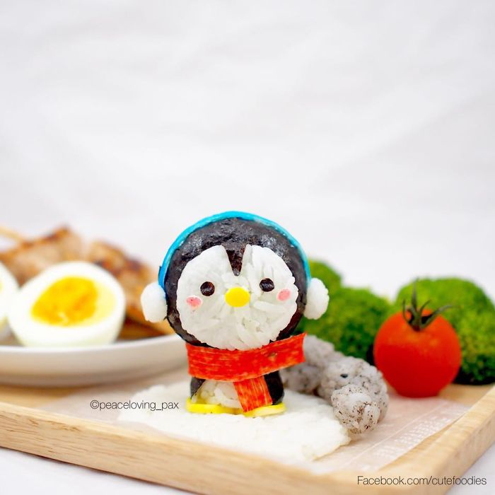 09-Baby-Penguin-Nawaporn-Pax-Piewpun-aka-Peaceloving-Pax-Food-Art-Inspiration-for-your-Bento-Box