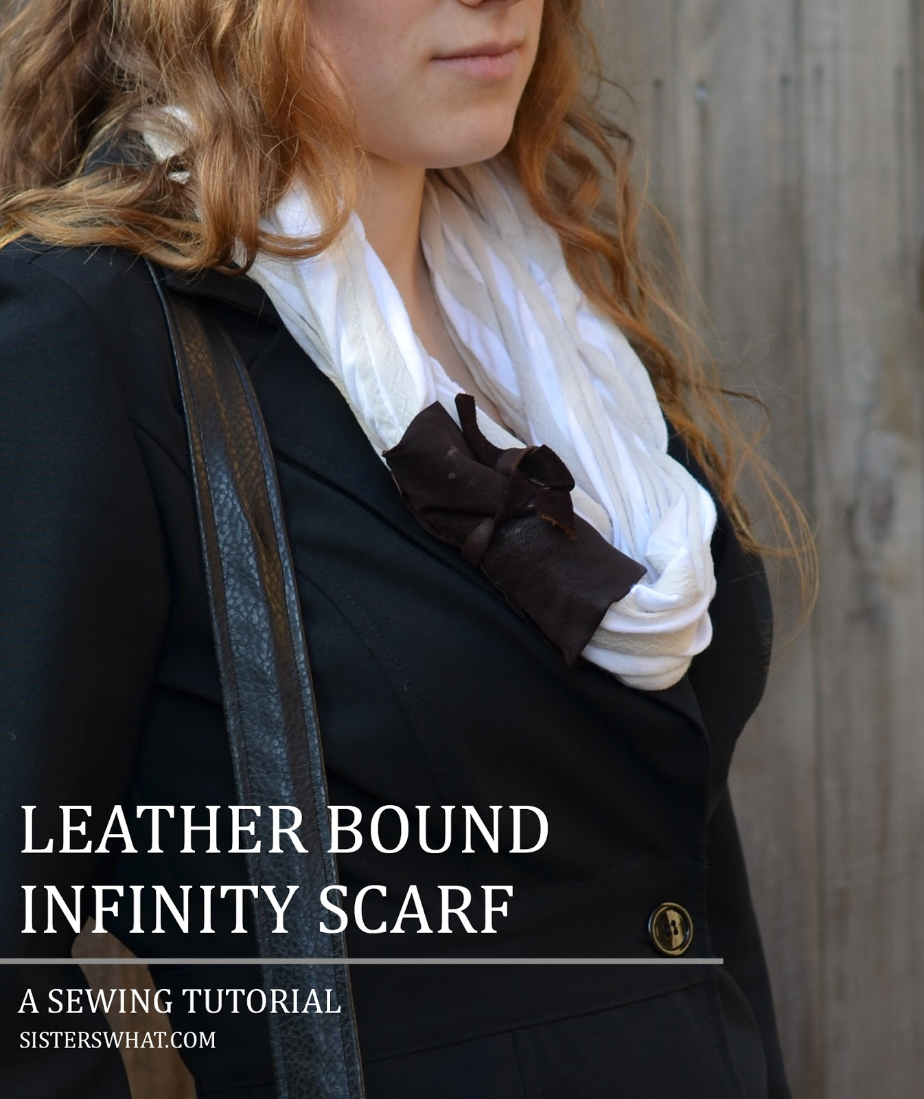 Leather Bound Infinity Scarf Sisters What