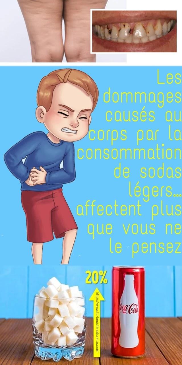 Les dommages causés au corps par la consommation de sodas légers… affectent plus que vous ne le pensez