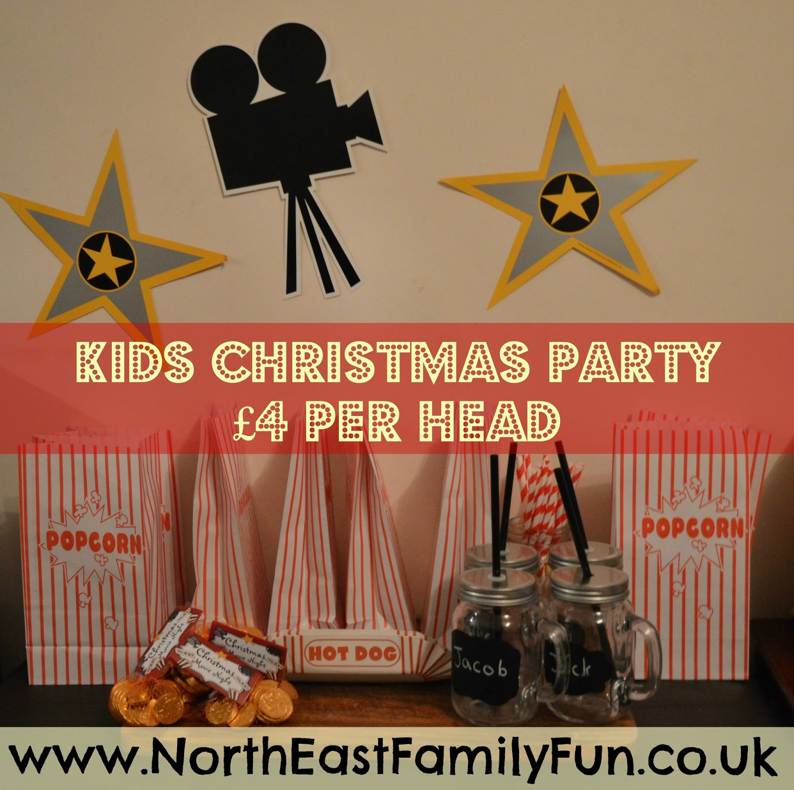 How to host a fantastic kids Christmas party for under £4 per head - popcorn stand