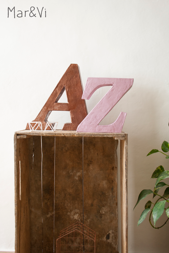 Lettere decorative DIY