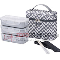 Lock & Lock Lunch Box Clover Bag Dark Gray HPL754CDS