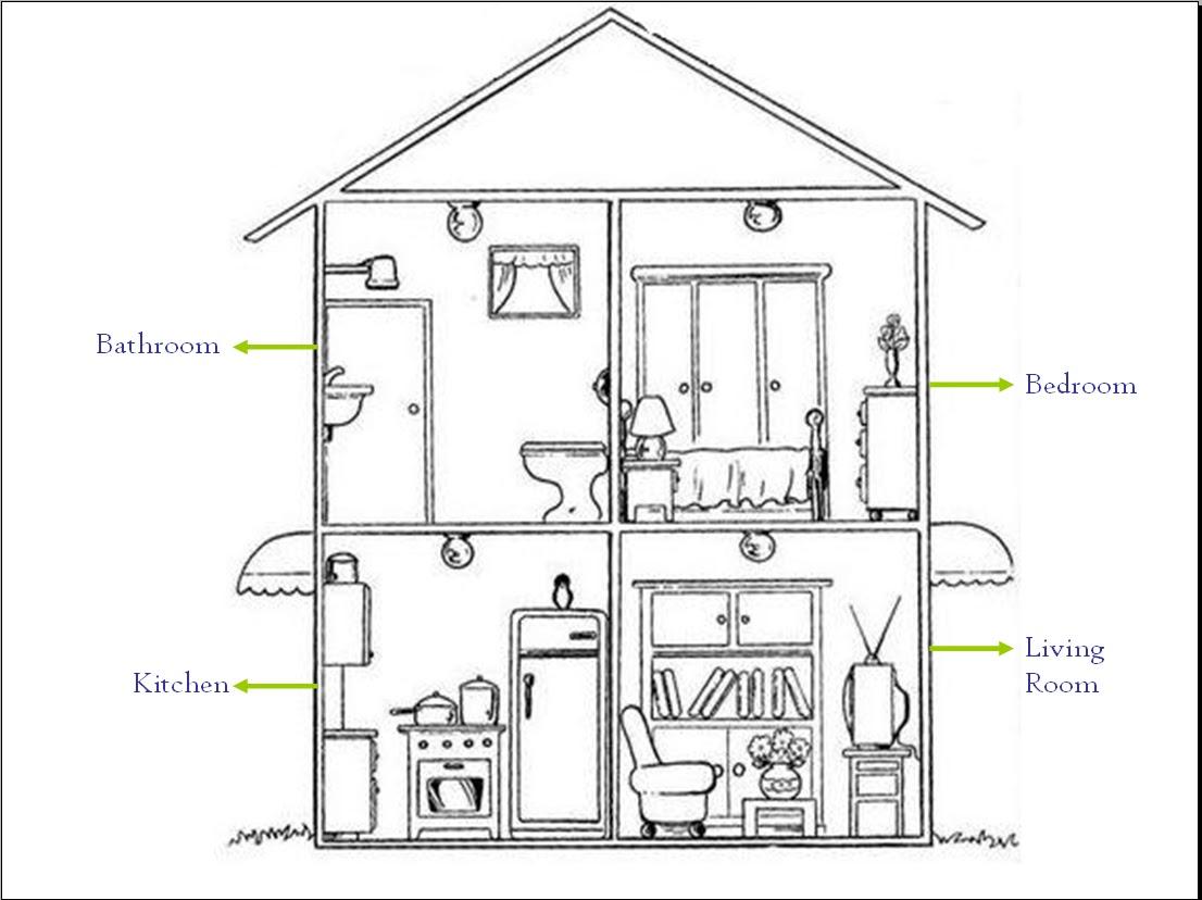12 Harmonious House Map Drawing