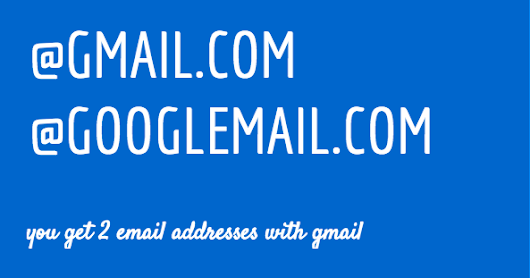 All Gmail users have two E-mail addresses | Information In