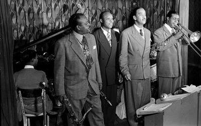 Ben Webster, Eddie Barefield, Buck Clayton, Benny Morton (1947)