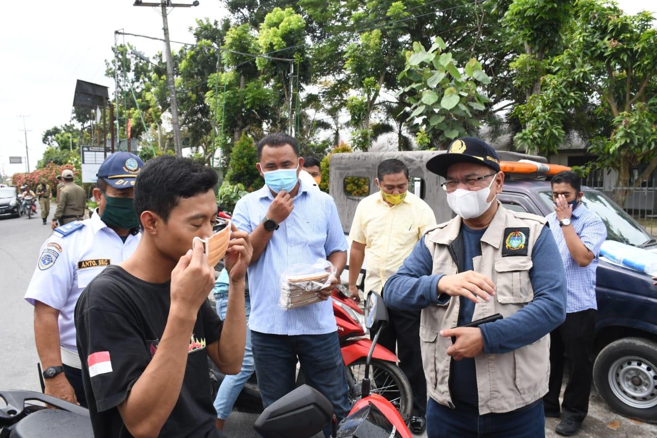 BPBD Provsu Kembali Menyerahkan Bantuan 150 Ribu Masker Kepada Kabupaten Sergai