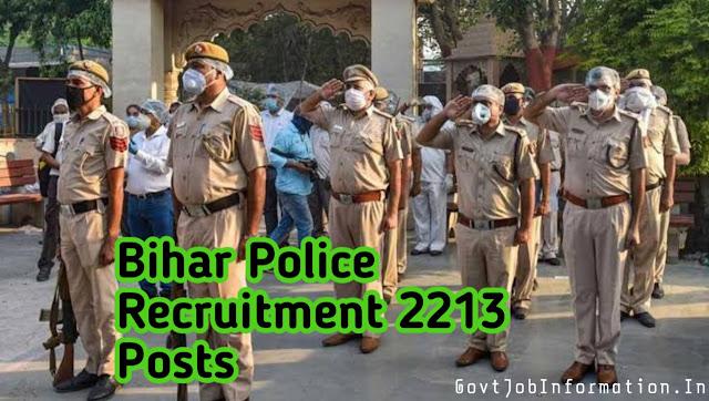 Bihar Police Recruitment ( BPSSC 2020)