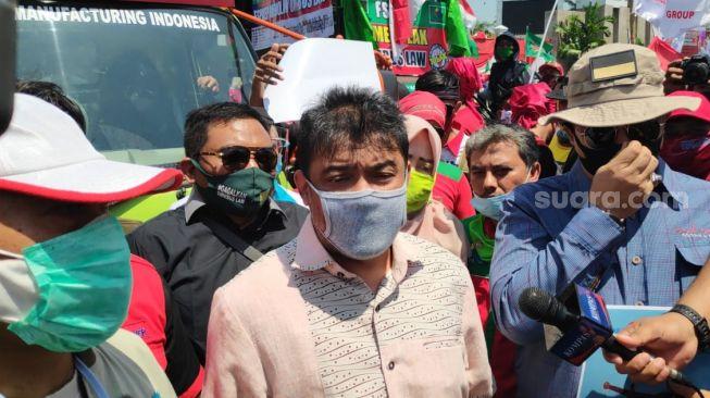 Buruh Demo Abaikan Jaga Jarak, Presiden KSPI: Omnibus Law Ancaman Serius