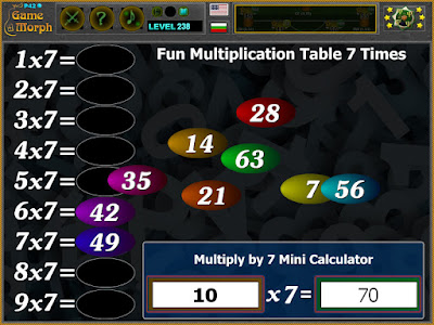 Multiplication Table 7 Times