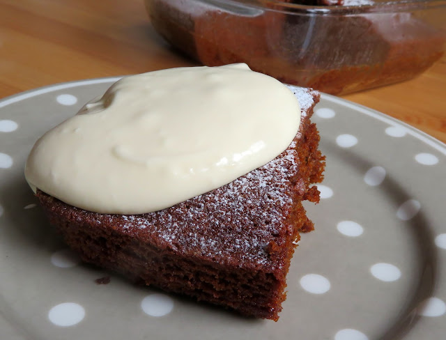 Small Batch Gingerbread Cake with a Lemon Cream