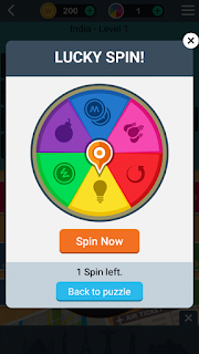 You have been giving a lucky spin