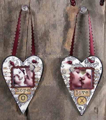 Altered Art Love Hearts