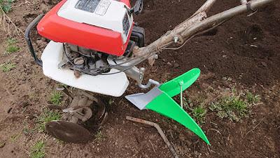 F210に培土器を取り付けた状態