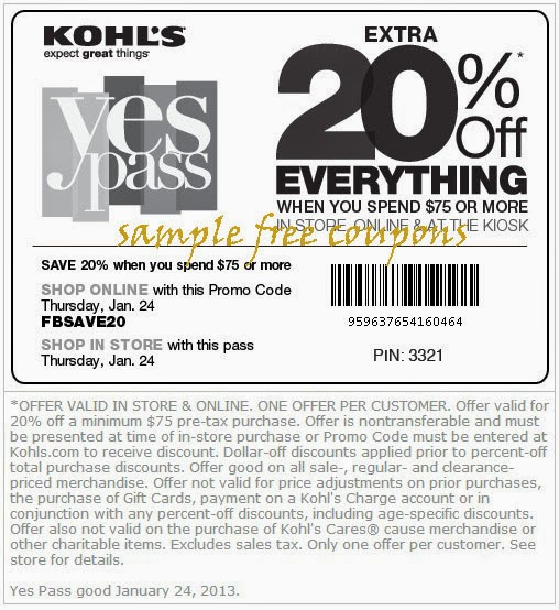 Kohl's coupons and discounts
